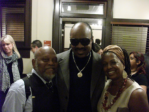 Marcus and Joan Belgrave with Stevie Wonder