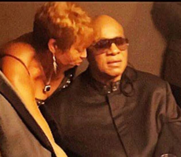 Joan and Stevie Wonder