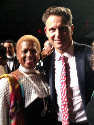 Joan Belgrave and Tony Goldwyn