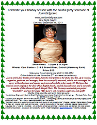 Joan Belgrave Jazzy  Holiday flyer